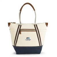 125142233-112 - Heritage Supply™ Oasis Cotton Boat Tote Natural-Blue - thumbnail
