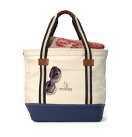 164155387-112 - Heritage Supply™ Catalina Cotton Tote Natural-Blue - thumbnail