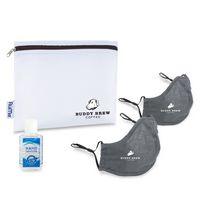 176276536-112 - Reusable Face Masks (2 pack) and Hand Sanitizer Kit - Gunmetal Grey - thumbnail