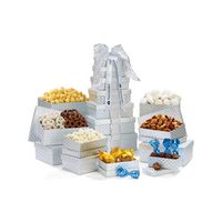 355774565-112 - Deluxe Shimmering Sweet & Snacks Gourmet Tower Silver - thumbnail
