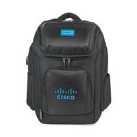 515689443-112 - Travis & Wells™ Velocity Charging Computer Backpack Black - thumbnail
