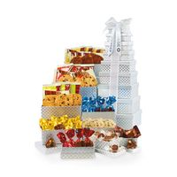 556335898-112 - Ultimate Gourmet Tower of Individually Wrapped Treats - 48 pc - Silver Diamond Pattern - thumbnail