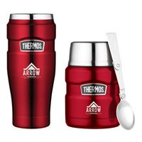 735142405-112 - Thermos® Stainless King™ Travel Gift Set Red - thumbnail