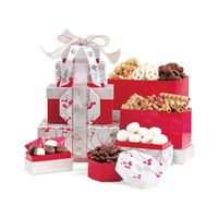 795774541-112 - Celebrate the Season Gourmet Sweets & Treats Tower Red-Silver - thumbnail