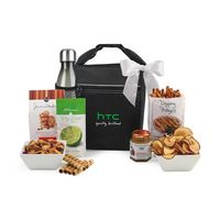 955679821-112 - Spirited Gourmet Lunch Break Cooler with Geyser Bottle Gift Set Black - thumbnail