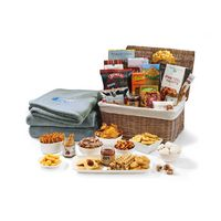985919901-112 - Gourmet Delights Keepsake Basket with Serenity Throw Grey-Natural - thumbnail