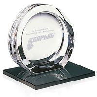 115470052-138 - Jaffa® High Tech Award on Black Glass Base - Large - thumbnail