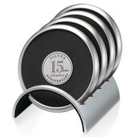 505470182-138 - Jaffa® Round Stainless/Polymeric Rubber Coaster Set - thumbnail