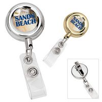 535470692-138 - Round Metal Retractable Badge Holder - thumbnail