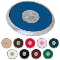 555471226-138 - Jaffa® Round Brushed Zinc Coaster - thumbnail