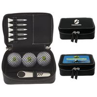 725471214-138 - Wilson® Zippered Golf Gift Kit w/Ultra 500 Golf Balls - thumbnail
