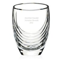 765470001-138 - Mario Cioni Siena Clear Crystal Vase - thumbnail