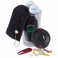 785473110-138 - Wilson® Tumbler 'n Towel Golf Kit w/3 Ultra 500 Golf Balls - thumbnail