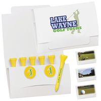 """795470417-138 - BIC Graphic® 6-2 Golf Tee Packet w/2 Ball Markers - 3 1/4"""" Tees - thumbnail"""