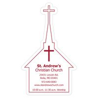"103144879-183 - Church 0.03"" Thick Vinyl Die Cut Large Stock Magnet - thumbnail"
