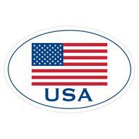"156313116-183 - White Vinyl U.S. Flag Removable Adhesive Decal (4""x6"") - thumbnail"