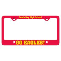 165932432-183 - Red Auto License Frame w/ 4 Holes & Large Bottom Straight Panel - thumbnail