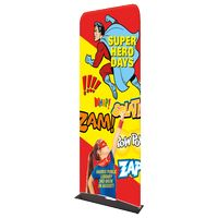 "185309663-183 - Indoor Double Sided Banner Stand w/ Fabric Banner (25 5/8"" x 91"") - thumbnail"