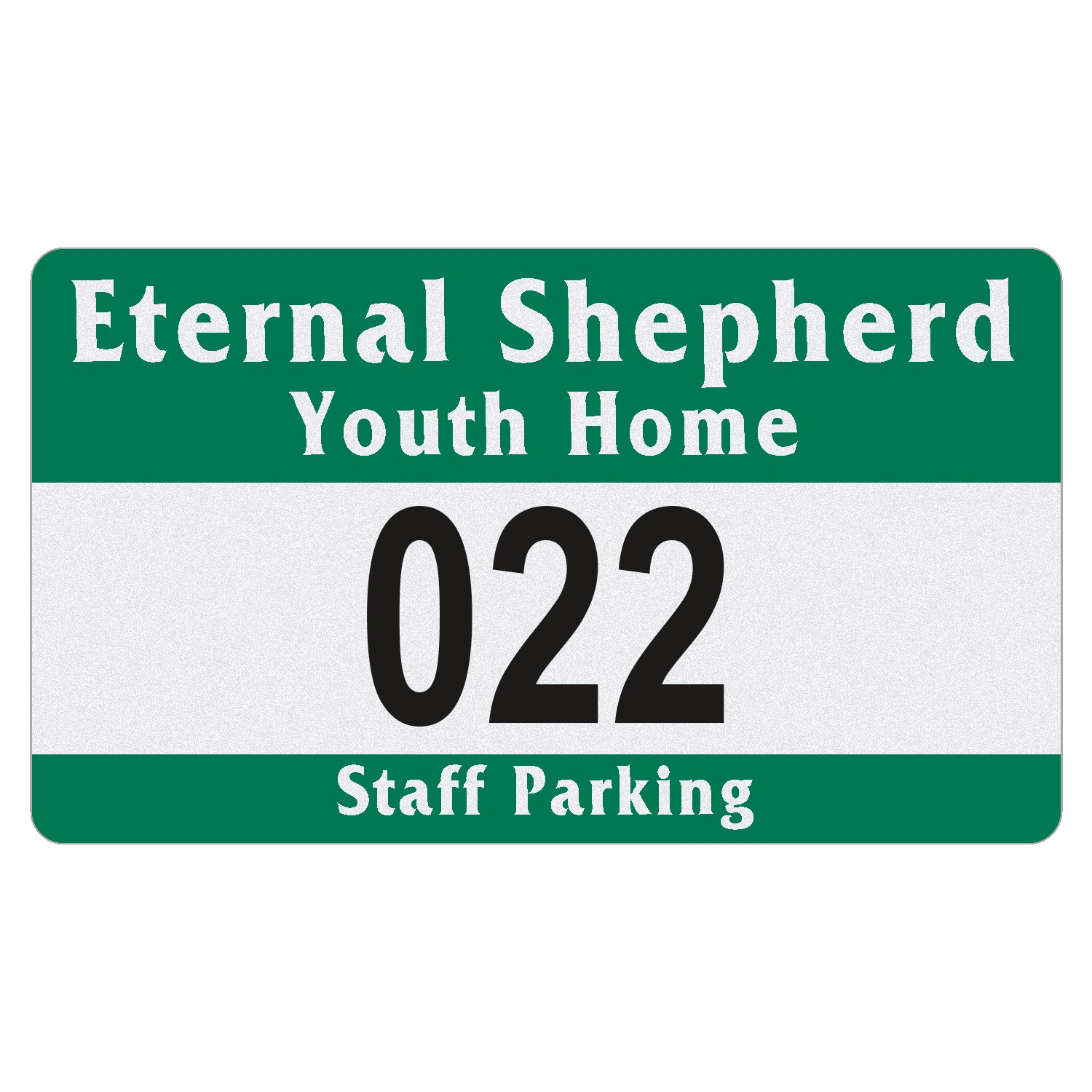 "185489556-183 - Rectangle White Reflective Outside Parking Permit Decal (2 3/4""x4 3/4"") - thumbnail"