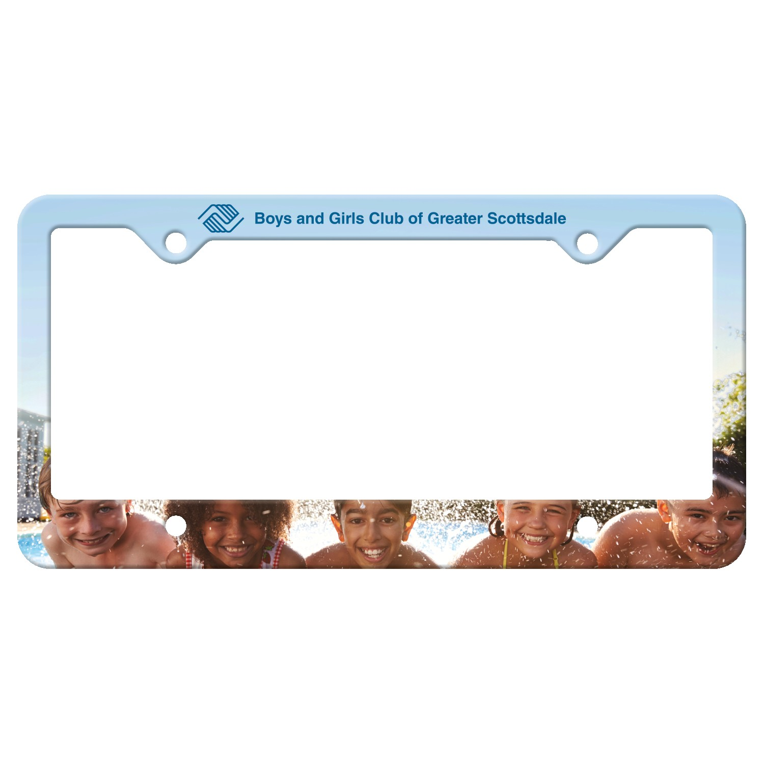365529302-183 - Auto License Frame Full Color w/ 4 Holes & Large Bottom Straight Panel - thumbnail