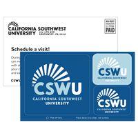 38561864-183 - 3 Rounded Corner Rectangles White Vinyl Postcard Sticker - thumbnail