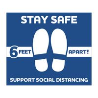 """386254125-183 - Stay Safe Floor Decals (12""""x14"""") - thumbnail"""