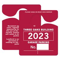 "505048442-183 - Plastic 35 pt. Hanging Parking Permit (3""x3 1/2"") - thumbnail"