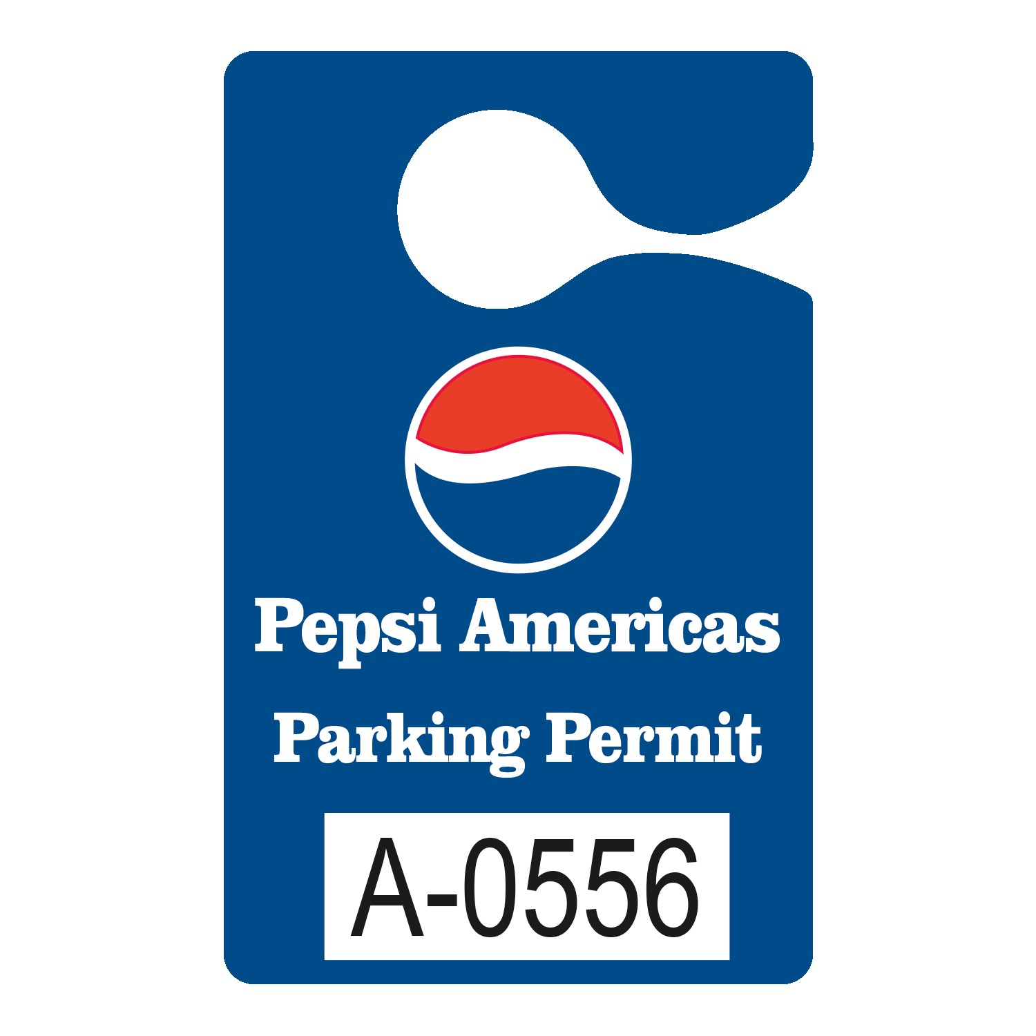 "525932453-183 - Plastic 10 pt. Numbered Hanging Parking Permit (3""x4 3/4"") - thumbnail"