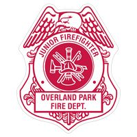 535880656-183 - Firefighter Shield Paper Lapel Sticker On Roll - thumbnail