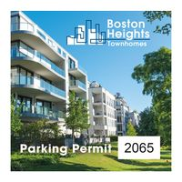 "545932493-183 - Square White Vinyl Full Color Numbered Outside Parking Permit Decal (3""x3"") - thumbnail"