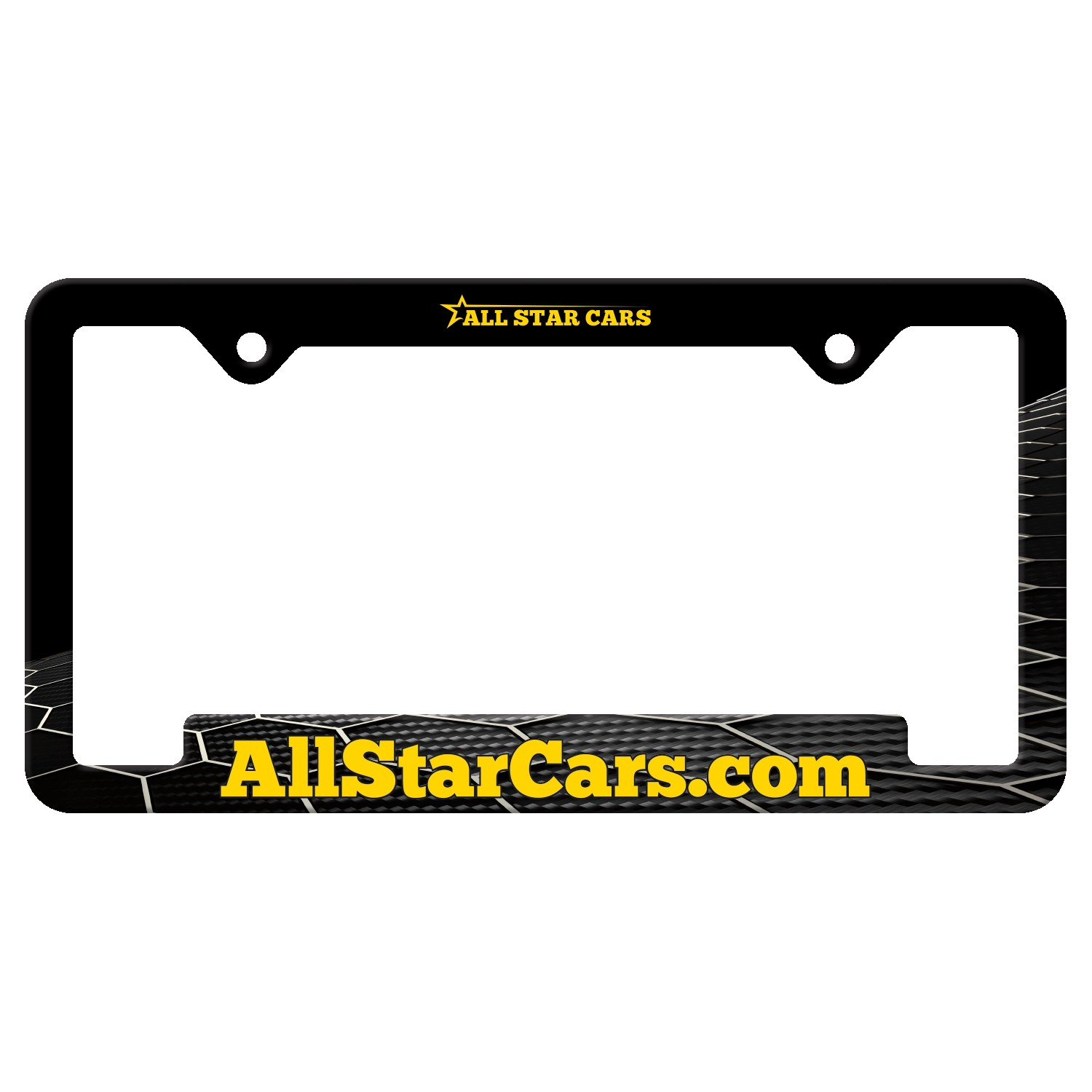 565529300-183 - Auto License Frame Full Color w/ 2 Holes & Large Bottom Jutted Panel - thumbnail