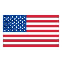 "56558079-183 - White Vinyl U.S. Flag Removable Adhesive Decal (1 7/16""x2 1/2"") - thumbnail"