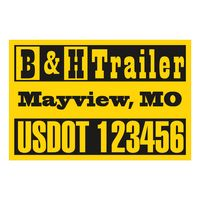 "575932408-183 - Rectangle w/ Square Corners Truck Signs & Equipment Decal (16 1/4""x24 1/2"") - thumbnail"