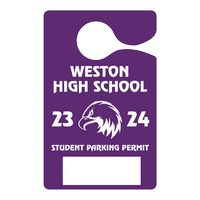 "592863042-183 - Plastic 10 pt. Hanging Parking Permit (3""x4 3/4"") - thumbnail"