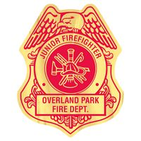 705880649-183 - Firefighter Shield Paper Lapel Sticker On Roll - thumbnail