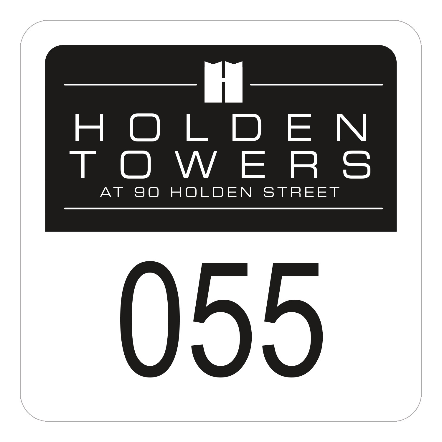 "745932491-183 - Square White Reflective Numbered Outside Parking Permit Decal (1 3/4""x1 3/4"") - thumbnail"