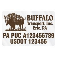 "775932401-183 - Rectangle w/ Rounded Corners Truck Signs & Equipment Decal (12 1/4""x18 1/2"") - thumbnail"