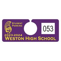"""795932446-183 - Plastic 23 pt. Numbered Hanging Parking Permit (2""""x5"""") - thumbnail"""