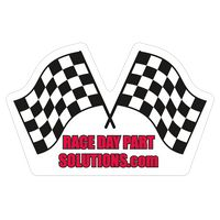 """922227775-183 - Racing Flags 0.02"""" Thick Vinyl Die Cut Large Stock Magnet - thumbnail"""