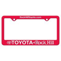 965932434-183 - Red Auto License Frame w/ 2 Holes & Large Bottom Straight Panel - thumbnail