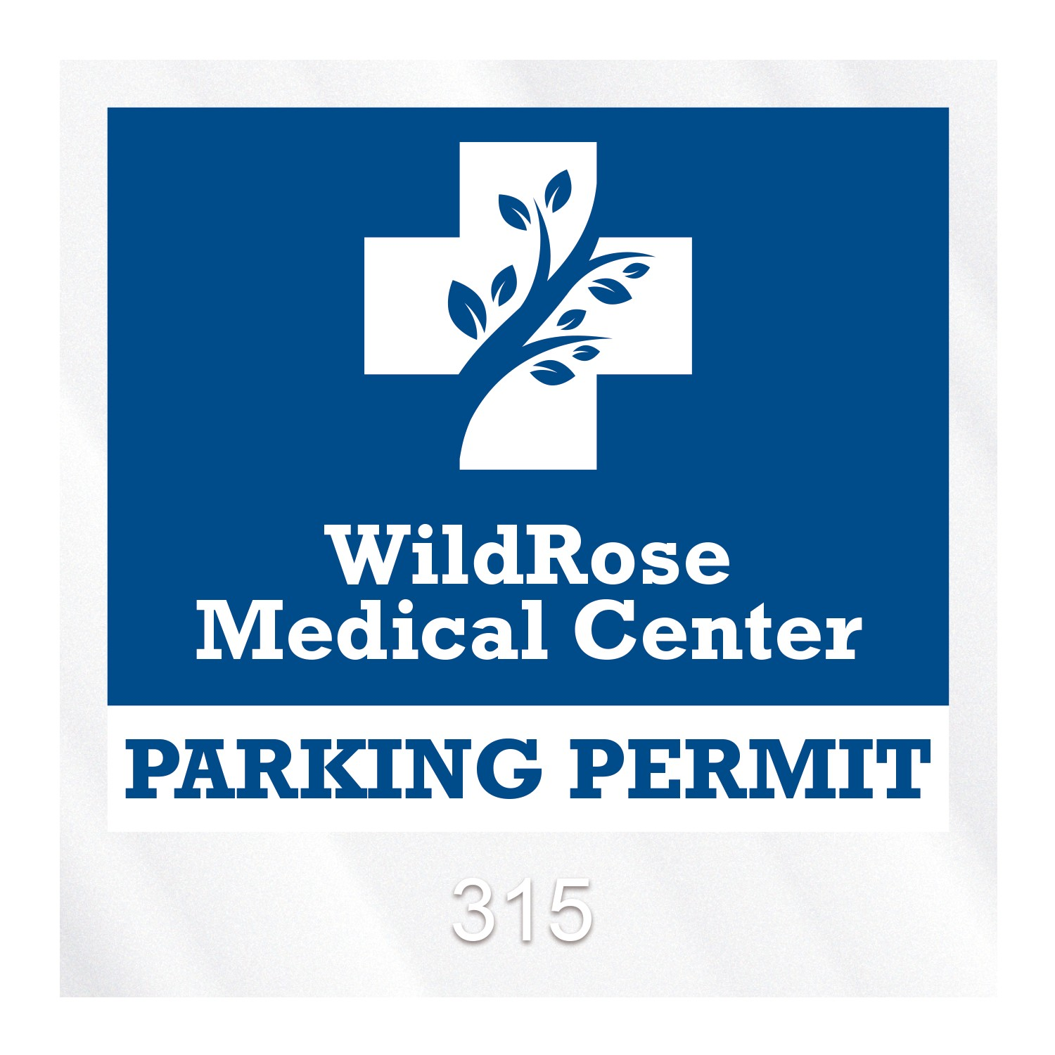 "985932474-183 - Square Clear Polyester Numbered Inside Parking Permit Decal (3""x3"") - thumbnail"