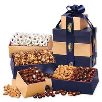 125448342-117 - Navy & Gold Tower of Treats - thumbnail