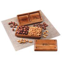 126312215-117 - Acacia Tray with Chocolate Almonds & Cashews - thumbnail