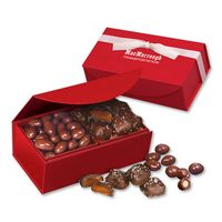 135703836-117 - Chocolate Covered Almonds & Chocolate Sea Salt Caramels in Red Magnetic Closure Box - thumbnail