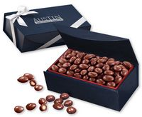 164470800-117 - Chocolate Covered Almonds in Navy Magnetic Closure Box - thumbnail