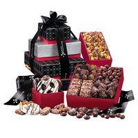376062194-117 - Black & White Snowflake Tower of Sweets - thumbnail