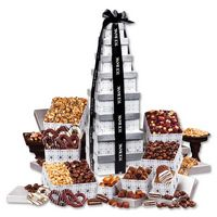 525703862-117 - Silver Delights Giant Party Tower with Black Ribbon - thumbnail