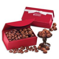 716071684-117 - Milk Chocolate Almonds & Cocoa Dusted Truffles in Red Magnetic Closure Box - thumbnail