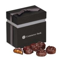 716076535-117 - Sea Salt Almond Turtles in Elegant Treats Gift Box - thumbnail