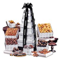 725703860-117 - Silver Delights Tower with Black Ribbon - thumbnail